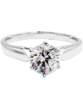 Believe By Brilliance 7mm Round Solitare Cz 10kt White Gold Ring by Believe By Brilliance