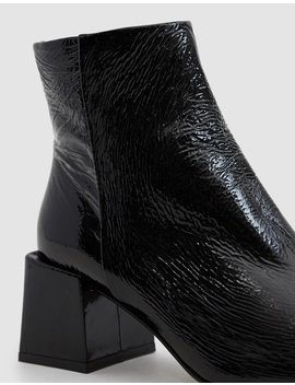 Lazaro Crinkle Patent Ankle Boot by Lo Q