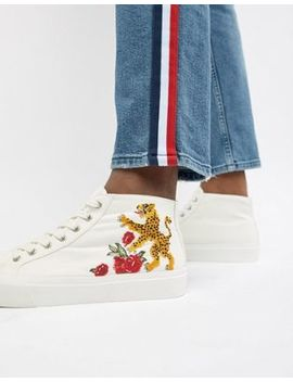 Asos Design – Mittelhohe Sneaker Mit Stickerei by Asos Design