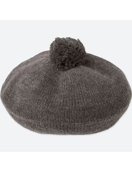 Girls Heattech Knitted Beret Hat by Uniqlo