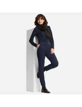 Women Wind Proof Warm Lined Pants by Uniqlo