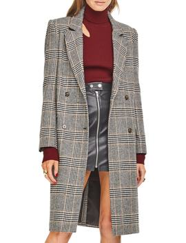 Kensington Plaid Long Coat by Astr The Label
