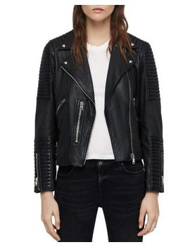Estella Quilted Leather Biker Jacket by Allsaints