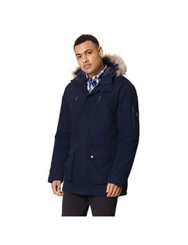 Regatta   Blue 'salinger' Insulated Hooded Waterproof Parka by Regatta