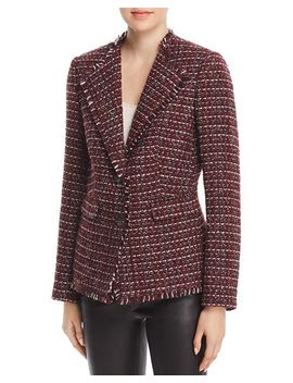 Tweed Two Button Blazer by Karl Lagerfeld Paris