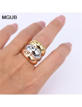 Mgub 6# 9# 22mm Wide Hip Hop 3 In One Color Stainless Steel Classic Ring Pretty Woman Original Image Accessories Hl396 by Mgub