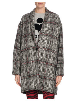 Eabrie Oversized Plaid Shawl Collar Jacket by Etoile Isabel Marant