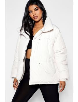 Plus Oversized Soft Puffer Jacket by Boohoo