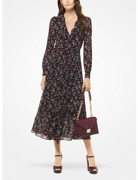 Botanical Georgette Wrap Dress by Michael Michael Kors