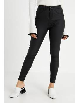 Whitney Coated Disco   Jeans Skinny Fit by New Look Petite