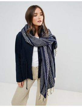 Lavand Oversized Knitted Scarf by Asos