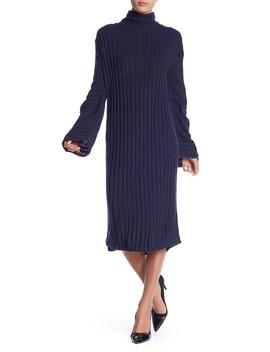 Ribbed Midi Turtleneck Sweater Dress by Free Press