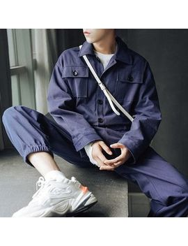 Mr. Wu   Long Sleeve Utility Jumpsuit by Mr. Wu