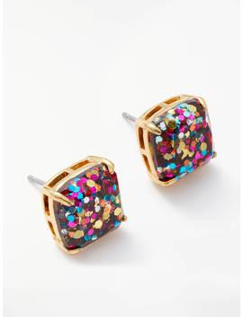 Kate Spade New York Square Glitter Stud Earrings, Multi by Kate Spade New York