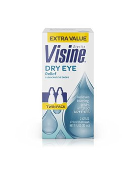 Visine Tears Dry Eye Relief Lubricant Eye Drops, .5 Fl. Oz (Pack Of 2) by Visine