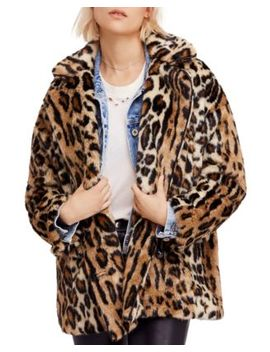 Kate Faux Fur Leopard Coat by Free People