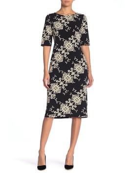 Printed Midi Dress by Ronni Nicole
