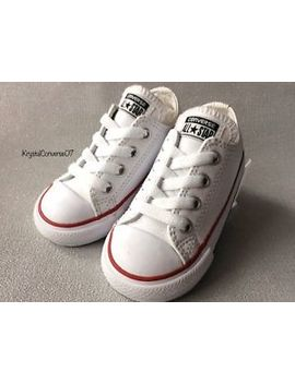 Infants/Boy/ Girls.. Converse All Star Pumps.Size 6.. White Leather. Ex.Con. by Ebay Seller