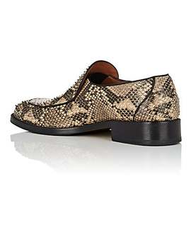 Python Stamped Leather Loafers by Dries Van Noten