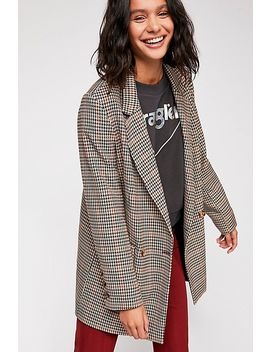Uptown Girl Houndstooth Blazer by Free People