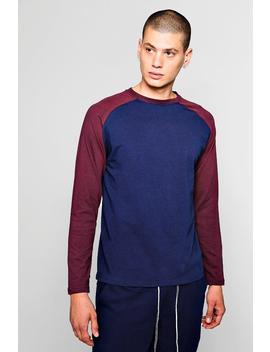 Long Sleeve Raglan T Shirt by Boohoo