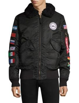 B15 Coalition Forces Flight Shearling Collar Jacket by Alpha Industries