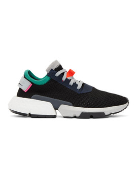 Black & Multicolor Pod S3.1 Sneakers by Adidas Originals