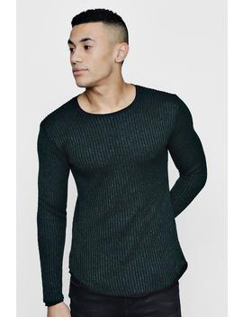Lightweight Rib Jumper by Boohoo