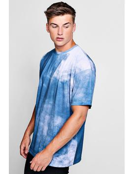 Oversized Smoke Design T Shirt by Boohoo