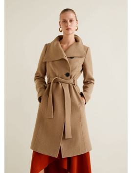 """<Font Style=""""Vertical Align: Inherit;""""><Font Style=""""Vertical Align: Inherit;"""">Wool Coat With Belt</Font></Font> by Mango"""