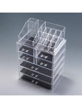 Acrylic Jewelry Makeup Cosmetic Organizer Case Display Holder Drawer Box Storage by Jaxpty