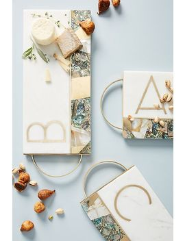 Monette Monogram Cheese Board by Anthropologie