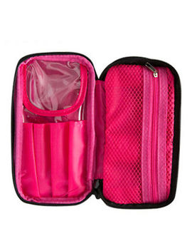 Salons Double Zipper Cosmetic Makeup Brush Bag Case Organizer Nylon Storage Kit by Unbranded