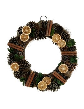 Wilko Country Christmas Natural Pinecone Botanical Wreath Wilko Country Christmas Natural Pinecone Botanical Wreath by Wilko
