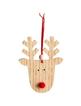 Wilko Christmas Alpine Home Wooden Rudolf Tree    Decoration 2pk Wilko Christmas Alpine Home Wooden Rudolf Tree    Decoration 2pk by Wilko