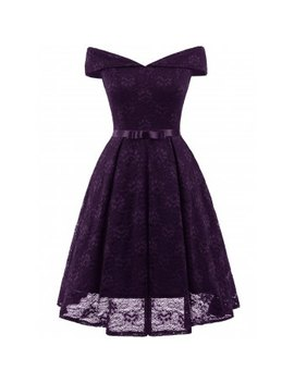 "<P>Off The Shoulder Lace Cocktail Dress</P><I Class=""Icon Down Js Tap Up Down""></I> by Dress Lily"
