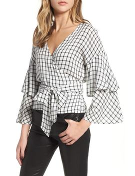 Jonnie Plaid Wrap Top by Cupcakes And Cashmere