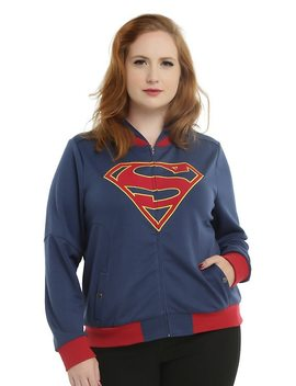 Dc Comics Dc Tv Supergirl Girls Hooded Jacket Plus Size by Hot Topic