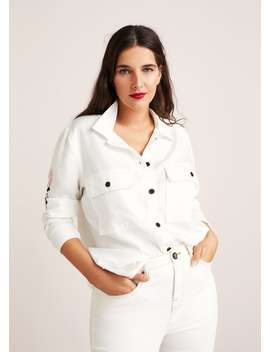 Embroidered Soft Shirt by Mango