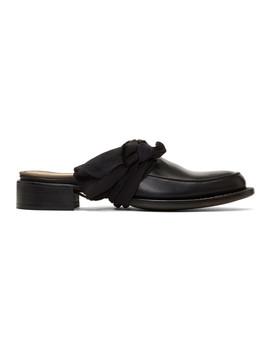 Black Pointy Moccasin Slippers by Cherevichkiotvichki