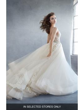 Beaded Lace & Tulle Ballgown by Lazaro