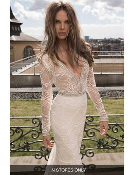 Embellished Mesh Mermaid Gown by Berta