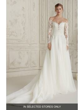 Elisea Off The Shoulder Organza Gown by Pronovias