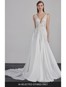 Escala Illusion Back A Line Gown by Pronovias