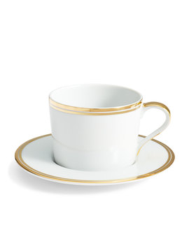 Wilshire Tea Cup And Saucer, Gold by Ralph Lauren Home