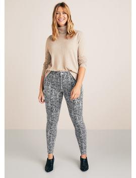Slim Fit Snake Print Jeans by Mango