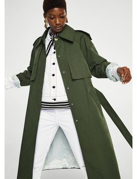Military Style Trench by Mango