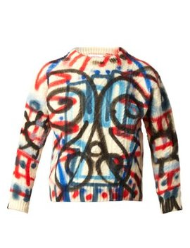 Spray Paint Aran Knit Wool Sweater by Charles Jeffrey Loverboy
