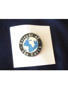 Vintage Black'friends Of The Earth' Enamel Lapel Badge/Pin   New by Ebay Seller