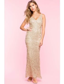 Lurex Lace Maxi Gown by A'gaci